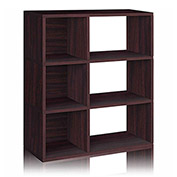 Way Basics 3 Shelf Sutton Bookcase, Espresso