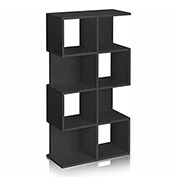 Way Basics 4 Shelf Malibu Bookcase Storage, Black