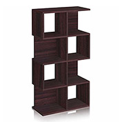 Way Basics 4 Shelf Malibu Bookcase Storage, Espresso