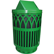 Covington 40 Gallon Swing Top Receptacle, Green - COV40P-SWT-GN