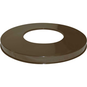 "Metal Flat Top Lid 18-3/4"" Diameter, Brown - M2401-FTL-BN"