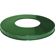 "Metal Flat Top Lid 18-3/4"" Diameter, Green - M2401-FTL-GN"
