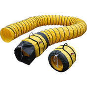 XPOWER 25' Long Polyester Duct Hose, Yellow - 16DH25