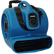 XPOWER Stackable Air Mover w/Telescopic Handle & Wheels, 3 Speeds 1 HP - P-830H