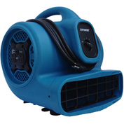 XPOWER Stackable Air Mover W/ Daisy Chain, 4 Positions 3 Speeds 1/4 HP - X-400A-Bl
