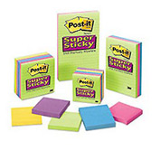 Post-it® Super Sticky Ultra Notes, 3 x 3, Assorted Colors, 5 Pads/Pack