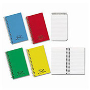 Single-Wirebound Memo Book, 3 x 5, Narrow Ruled, Side Opening, 60 Sheets