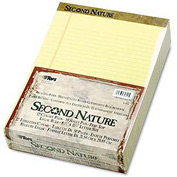 Second Nature® Recycled 8-1/2x11 Pads, White, Legal Rule, 50 Sheets/Pad, 12/Pk