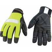 High Visibility Performance Gloves - Safety Lime - Utility - Extra Large
