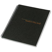 Teacher's Plan Book, 40-Week , 11 x 8-1/2, 56 Sheets, Black Cover