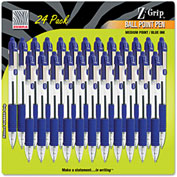 Zebra Z-Grip Retractable Ballpoint Pen, Blue Ink, Medium, 24/Pack
