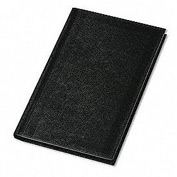 Pocket Size Bound Memo Book, Leather-Look Cover, 5-1/4 x 3-1/4, 72 Pages, Black