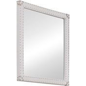 "Zuo Modern Smooth Mirror White - 26-2/5""W x 2""D x 30-1/3""H"