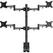 "Loctek Full Motion Quad Desk Mount Stand, Fits 10""-27"" Monitors"