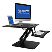 "FlexiSpot F3MB 32"" Height Adjustable Sit-Stand Converter Workstation, Black"