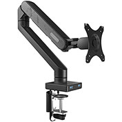 "Fleximounts Desk LCD Mount for 10""-30"" Monitors w/ USB Ports, Up to 19.8 lbs."