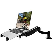 Fleximounts Deluxe Full Motion Gas Spring Desk Laptop Mount Notebook Tray