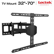 "Loctek TV Wall Mount Bracket, Articulating, for 32""-70"" Monitors Up to 99-lbs."