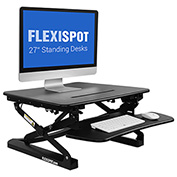 "FlexiSpot M1B 27"" Height Adjustable Sit-Stand Desktop Workstation, Black"