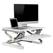 "FlexiSpot M1W 27"" Height Adjustable Sit-Stand Desktop Workstation, White"