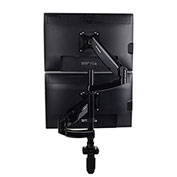 "Fleximounts Vertical Dual Monitor Desktop Mount - Full Motion Dual Stacking for 10""-27"" Monitors"