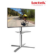 "TV Cart LCD Monitor Stand w/ DVD Plastic Shelf, for 32""-60"" Flat Screen Monitors"