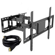 "Fleximounts V3 Full Motion TV Wall Mount Bracket, Articulating for 32""-65"" TVs Up to 132 lbs."