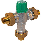 Zurn 34-ZW1070XL 3/4 In. FNPT Thermostatic Mixing Valve - Lead-Free Cast Bronze - ASSE1016, ASSE1070