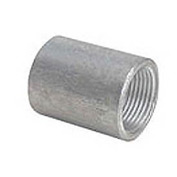 Capitol 11201010 Non-Recessed Straight Tapped Coupling 150# Galvanized Steel - 1''