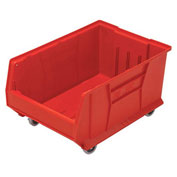 Quantum Mobile Hulk Plastic Stackable Storage Bin QUS964MOB 16-1/2 x 23-7/8 x 11 Red