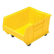 Quantum Mobile Hulk Plastic Stackable Storage Bin QUS965MOB 18-1/4 x 23-7/8 x 12 Yellow