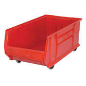 Quantum Mobile Hulk Plastic Stackable Storage Bin QUS984MOB 16-1/2 x 29-7/8 x 11 Red