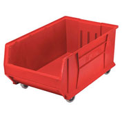 Quantum Mobile Hulk Plastic Stackable Storage Bin QUS985MOB 18-1/4 x 29-7/8 x 12 Red