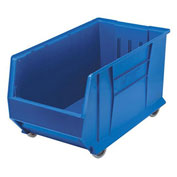 Quantum Mobile Hulk Plastic Stackable Storage Bin QUS986MOB 16-1/2 x 29-7/8 x 15 Blue