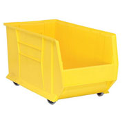 Quantum Mobile Hulk Plastic Stackable Storage Bin QUS986MOB 16-1/2 x 29-7/8 x 15 Yellow
