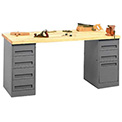 Heavy Duty Pedestal Workbench
