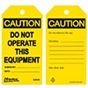 Safety-Lockout Tags