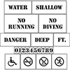 Water Safety Signs & Stencils