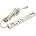 Wiremold M6BZ-15 6 Outlet Power Strip and Surge Protector with 15-ft Cord