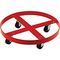 Drum Dolly for 55 Gallon Drum - Rubber Wheels 600 Lb. Capacity