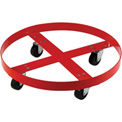 Drum Dolly for 30 Gallon Drum - Rubber Wheels 600 Lb. Capacity