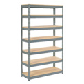 "Extra Heavy Duty Shelving 48""W x 24""D x 96""H With 7 Shelves, Wood Deck"