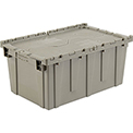 Plastic Storage Container - Attached Lid DC2717-12 27-3/16 x 16-5/8 x 12-1/2 Gray