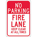 Aluminum Sign - Fire Lane Keep Clear - .080mm Thick