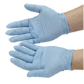 Disposable Nitrile Gloves, Powdered, X-Large, Blue, 100/Box