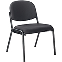 Stacking Guest Chair (Unassembled) - Fabric - Black - Pinehurst Collection