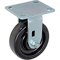 "Heavy Duty Rigid Plate Caster 5"" Plastic Wheel 500 Lb. Capacity"
