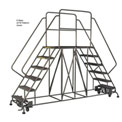 "3 Step Steel Double Entry Mobile Platform - 72""L x 33""W - WLDS132447"