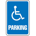 Aluminum Sign - Parking Sign - Handicap Symbol, .063mm Thick