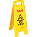 Rubbermaid® 6112-77 Floor Sign 2 Sided - Caution Wet Floor